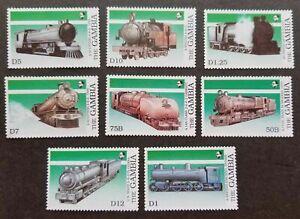 [SJ] Gambia Train 1989 Locomotive Railway Transport Eisenbahn (stamp) MNH