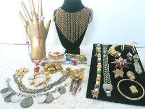 Antique Vintage Victorian Jewelry Lot GF Vanity Items C-Clasp+ H10