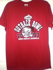 Mens T-shirt Carolina Gamecocks USC Garnet Outback Bowl S/S Gildan Cotton NWT M