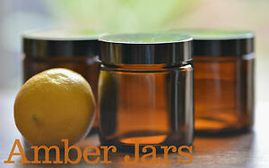 10 x 120ml Glass Amber Jars with Black Wadded Lid-DIY Cosmetics Spice Candle jar