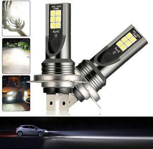 2x H7 120W Car LED Fog Headlight Bulbs Kits 12V-24V 6500K 800lm Driving DRL Lamp