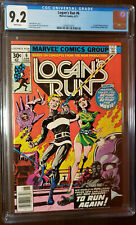 LOGAN'S RUN #6 1ST THANOS SOLO STORY BY MIKE ZECK WHITE PAGES CGC 9.2