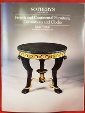 Sotheby's NY, French & Continental Furniture,Decorations and Clocks, Oct 13,1984