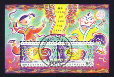 Christmas Island 1995 Year of the Pig Mini-Sheet Stamps (CTO)