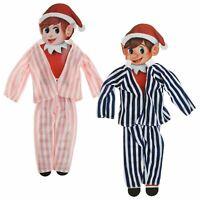 Elves Behavin' Badly Pyjama Set For Naughty Elf Blue Pink Christmas Novelty Xmas