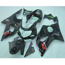 Black INJECTION Plastic Fairing Set For SUZUKI GSXR1000 GSXR 1000 00-02 01 K1 4B