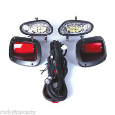 GTW EZGO Golf Cart LED Headlight and Taillight Kits fits 2014-Up TXT T48 models