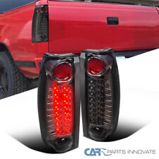 For 88-98 Chevy GMC C/K C10 Silverado Smoke LED Tail Lights Tinted Brake Lamps