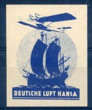 "Aviation & Zeppelin Vignette: Lufthansa Vignette "" German Luft Hansa "", #704"