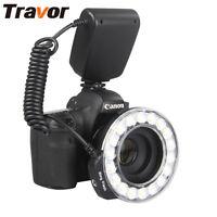 LED Ring Flash RF600D Macro Light Fr Canon 750D 760D Nikon D7200 Sony A6500 A7II