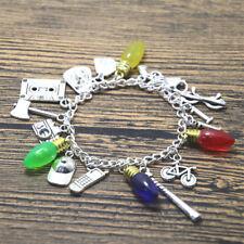 Stranger things inspired charm bracelets silver tone