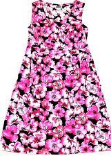 Motherhood Maternity Womens Dress Sz Small Cotton Black Pink Floral Sleeveless
