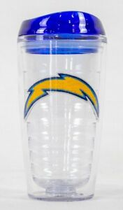 San Diego Chargers NFL Licensed 16oz Double Wall Insulated Tumbler Cup w/Lid
