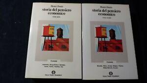 Denis: Storia del pensiero economico  2 volumi Mondadori, 1973