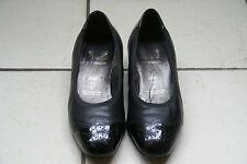 Spiess,Damenschuhe,für Einlagen,Größe: 4,5 Leder,Schwarz/Lack,Modell: Julia