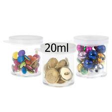New 24xSingle Plastic Storage Box Bead Hobby Craft Container Organizer 20ml