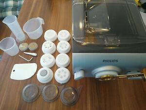 Philips Avance HR2358/12 Pastamaker Nudelmaschine mit Messingmatrizen