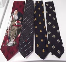 Men's Neckties Norman Rockwell Santa Christmas Tie & Every Day Styles 4 Vintage