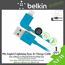 Belkin 90ø Angled 2.4amp Lightning Sync & Charge cable iPhone 6 5 5s/c/iPad Air