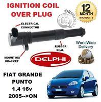 Per Fiat Grande Punto 199 1.4 2005> Su Nuovo Orginale Accensione Coil Sopra Plug