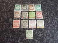 MALAYA STATES KELANTAN POSTAGE REVENUE STAMPS SG14-23 1921-28 LIGHT MOUNTED MINT