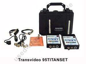 Transvideo 95TITANSET - Bildfunkstrecke SD Transmittler, Receiver + Koffer
