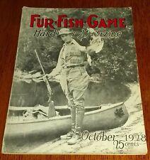 FUR FISH GAME, OCTOBER 1928 - E.J. DAILEY, J. CURTIS GRIGG