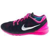Nike Womens Free TR Fit 5 704674-002 Black Pink Running Shoes Lace Up Size 9
