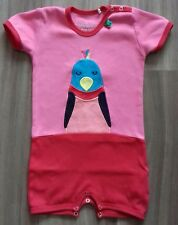 FRED'S WORLD BY GREEN COTTON ORGANIC PINK RED BLUE GIRLS SUMMER ROMPER SIZE 68