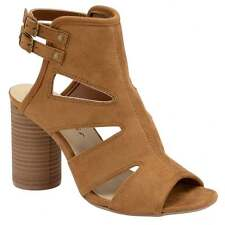Dolcis Valerie Round Heel Faux Suede Tan Sandals New  RRP £39.99 Size 7
