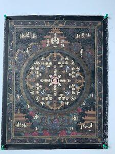 "Unframed Thangka Painting On Canvas ""Mandala"""