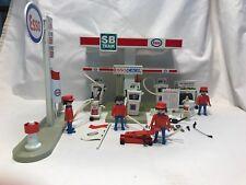 Vintage Playmobil Geobra 3439 Service Station Esso Gas Mechanic Petrol