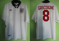 Maillot Angleterre Gascoigne England Jersey Umbro Away Football soccer - XL