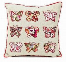 Country Butterfly Patchwork Mini Cushion Retro Vintage Style Animal Lovers Gift