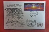 UNITED NATIONS UNPA   MAXI POSTCARD SATELITE   1992 PHILATELIA BERLIN