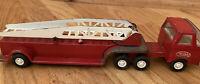 Vintage Tonka Mini Pressed Steel Fire Truck Hook & Ladder 11 inch 1970's