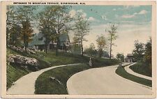 Entrance to Mountain Terrace in Birmingham AL Postcard 1926