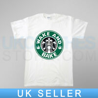WAKE AND BAKE WEED TRAPSTAR 40OZ OBEY WASTED COMME DES RAP  T SHIRT