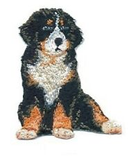 """2 1/4"""" x 2 3/4"""" Sitting Bernese Mountain Dog Breed Embroidery Patch"""