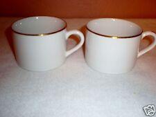 (2) Ten Strawberry Street Replacement Cups-Gold Rim- by Monno Bangladesh EUC