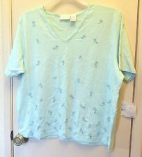 NEW!! Elisabeth. Light Blue short sleeve pullover top size 1 (plus size)