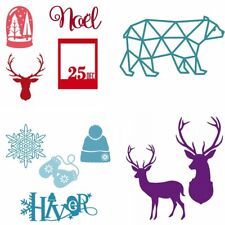 Christmas Reindeer Metal Template Stencil Cutting Dies for Scrapbooking Cards