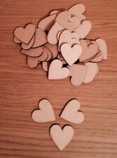 50x Wooden Hearts 30x 30 Mm Mdf pack Craft Shape Blank
