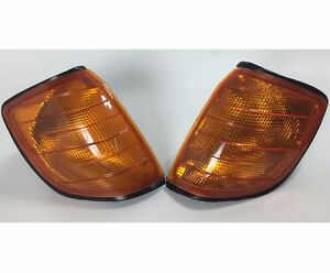 2x Front Turn Signal Corner Amber Light Lamp fits Mercedes Benz S W140 91-98