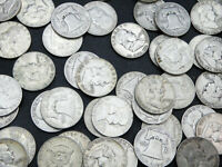 $1 FACE VALUE of FRANKLIN HALF DOLLARS 90% SILVER (LOT OF 2 COINS)