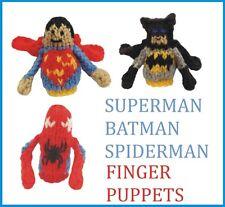 SUPEREROI Dito Burattini, Knitting Pattern. BATMAN, SUPERMAN, SPIDERMAN
