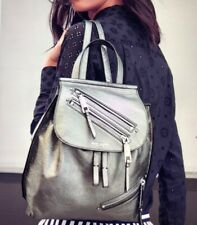 NEW! $495 Marc Jacobs MEDIUM Leather Zip Pack Backpack silver gray SOLD OUT