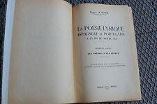 La Poésie Lyrique Espagnole et Portugaise - Premiére Partie - Rennes 1949