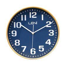 Leni Wood Wall Clock Navy 28cm