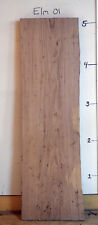 "Elm Live Edge Wood Slab, 2"" x 62 1/8"" wood working lumber, Elm-01"